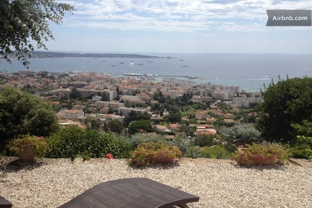 View from Terrace on Golfe Juan Bay