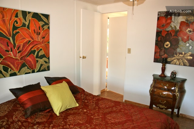 Colorful art work throughout home