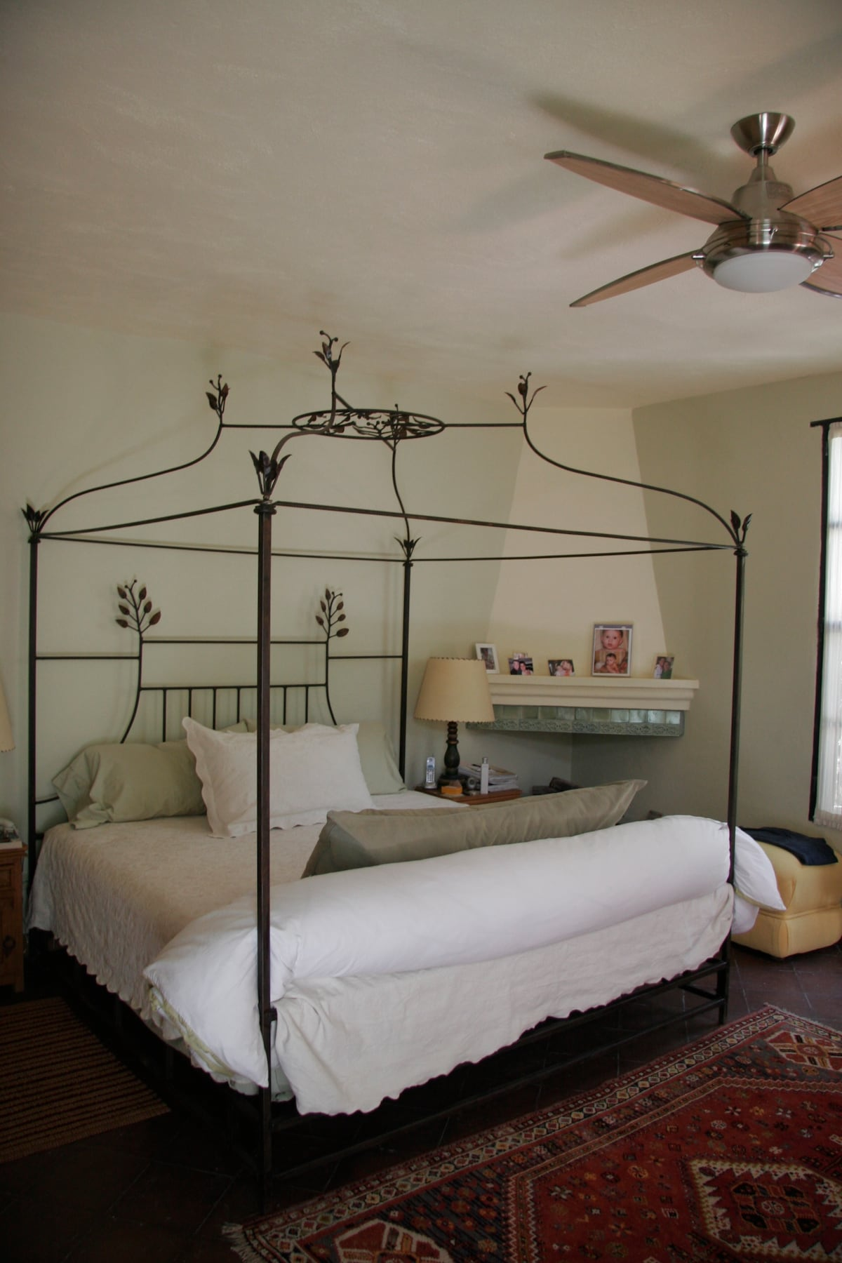 The master bedroom canopy bed...