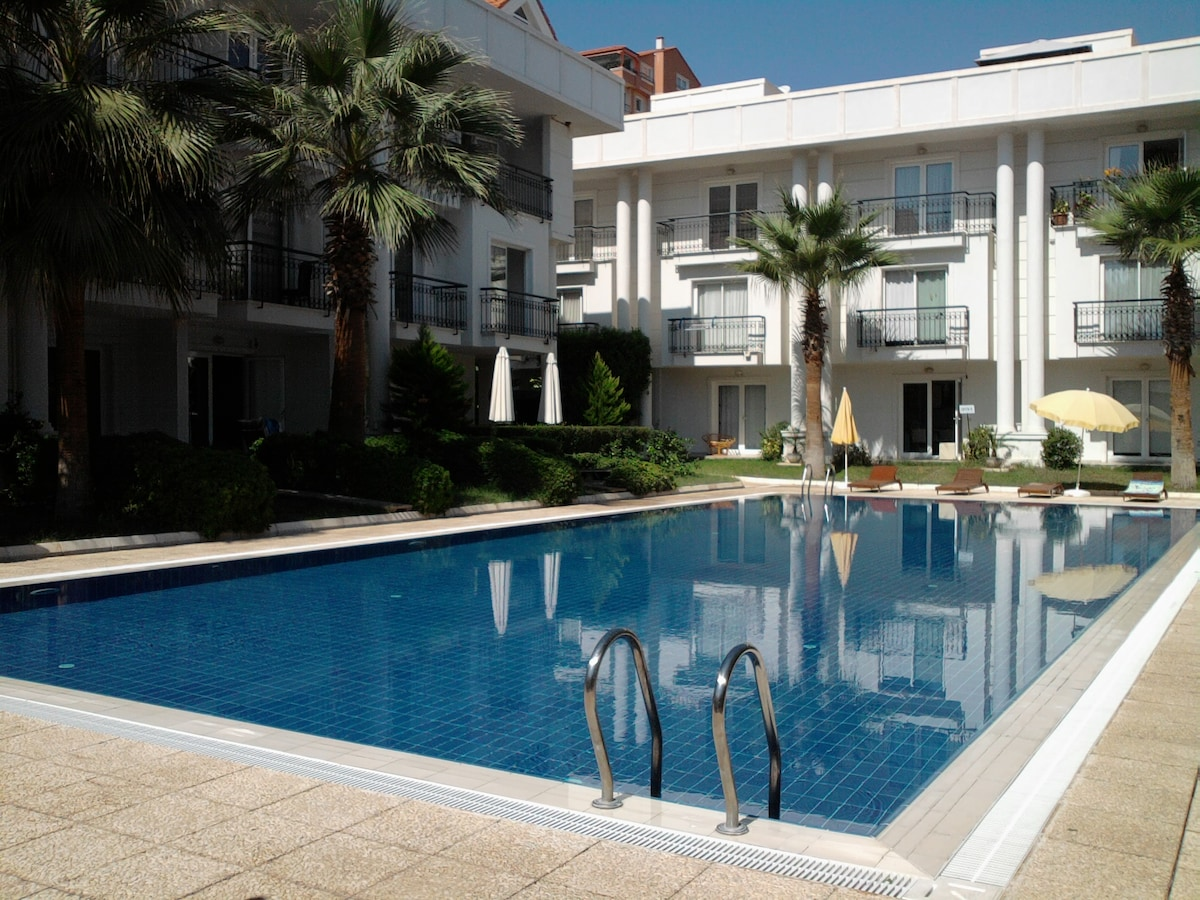 300m. from the sea with pool&garden