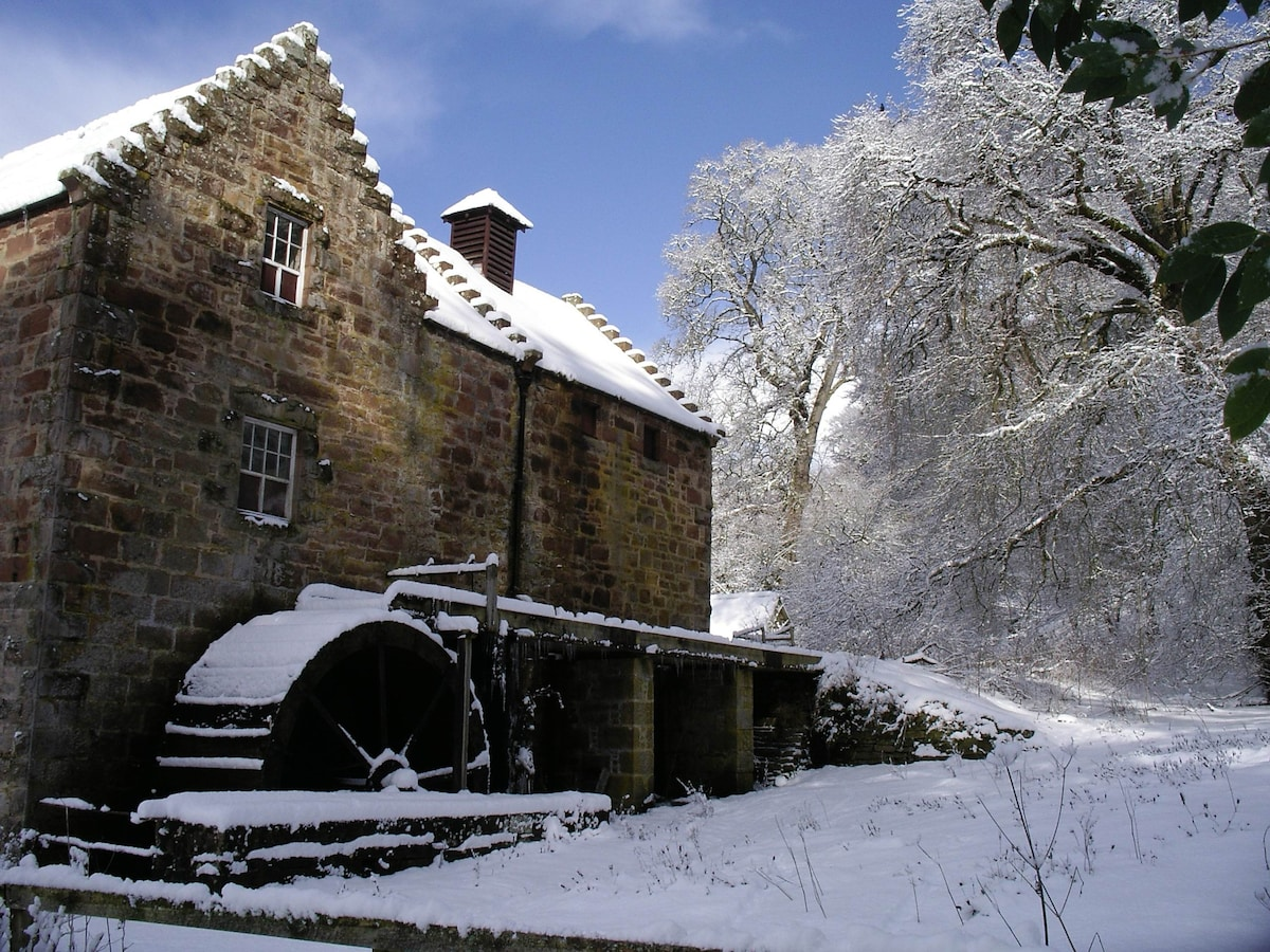 The mill - one of Scotland's only working water mills