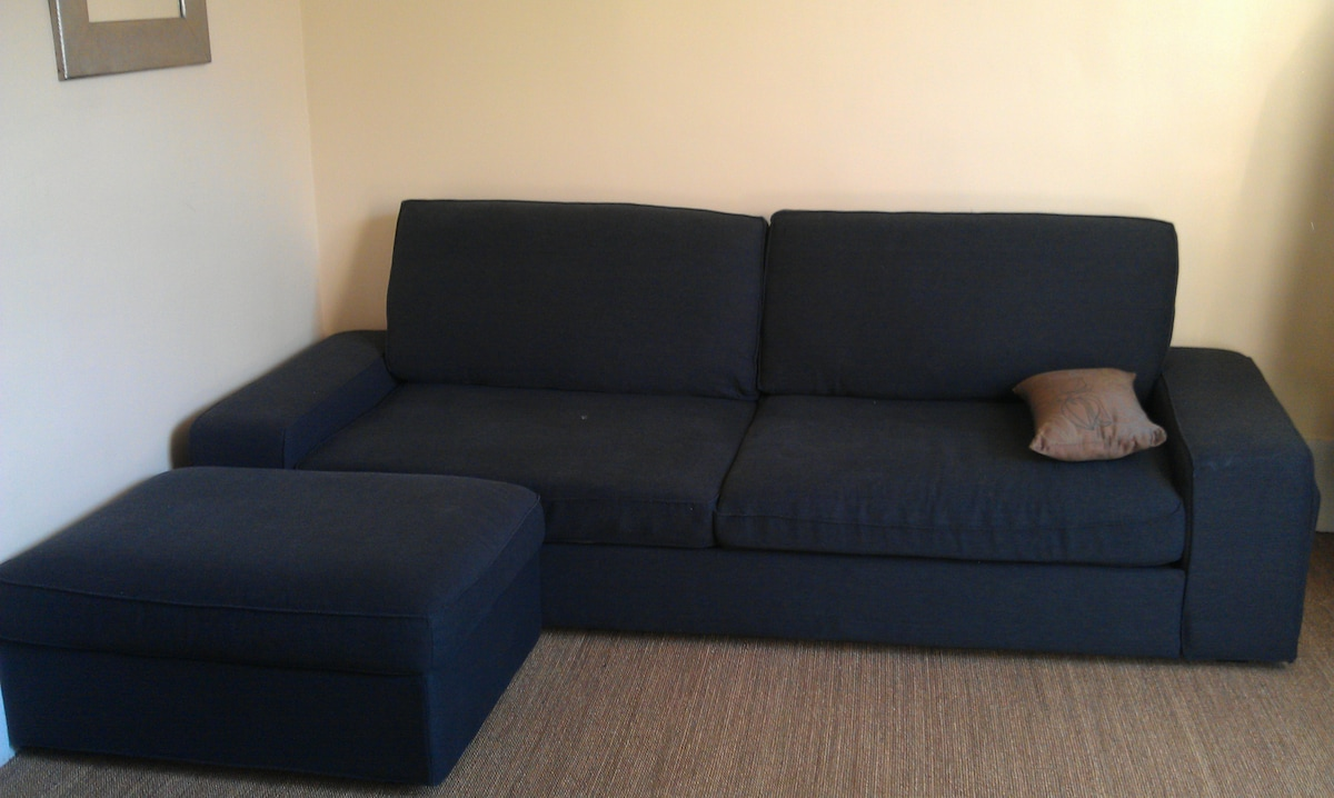 Le canapé lit-du salon