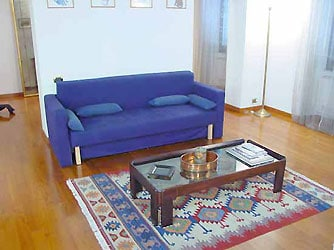 double sofa bed inthe livingroom
