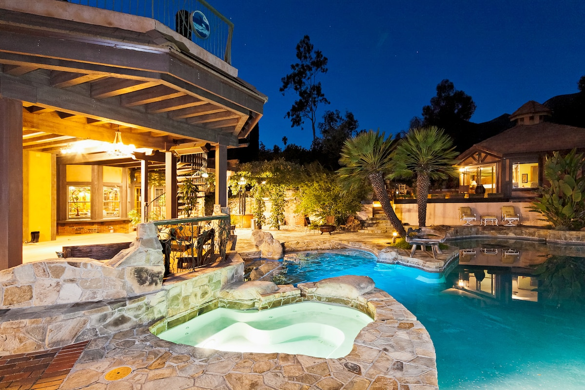 Enjoy the hot tub under the stars at the fabulous Glen Muse Estate!