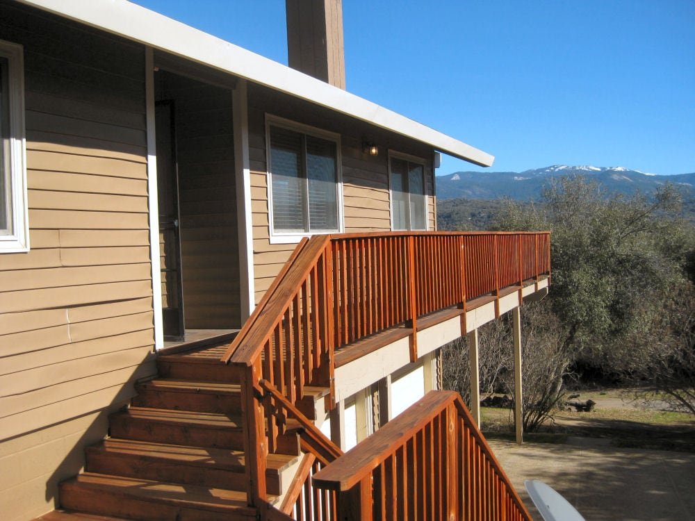 """Our """"Eastwood Escape"""" is located on a hill and has stunning views of the Sierras!  Yosemite, Bass Lake"""
