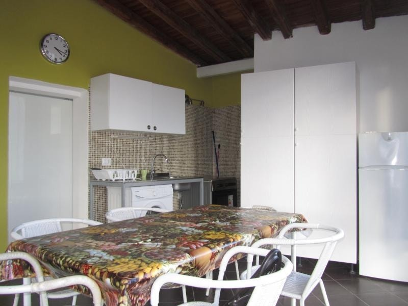Open-plan kitchen