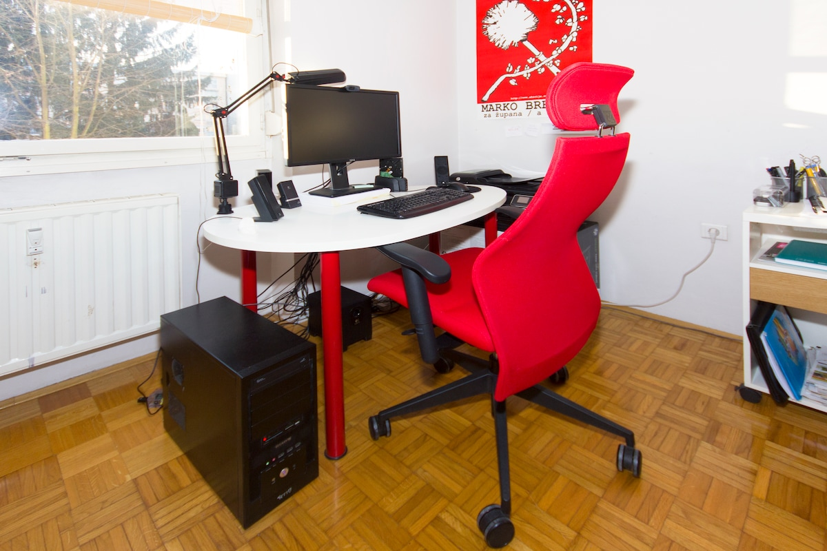 Desk with exclusive chair.