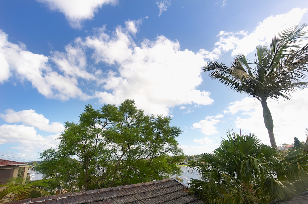 Views of Woodford Bay from the private deck