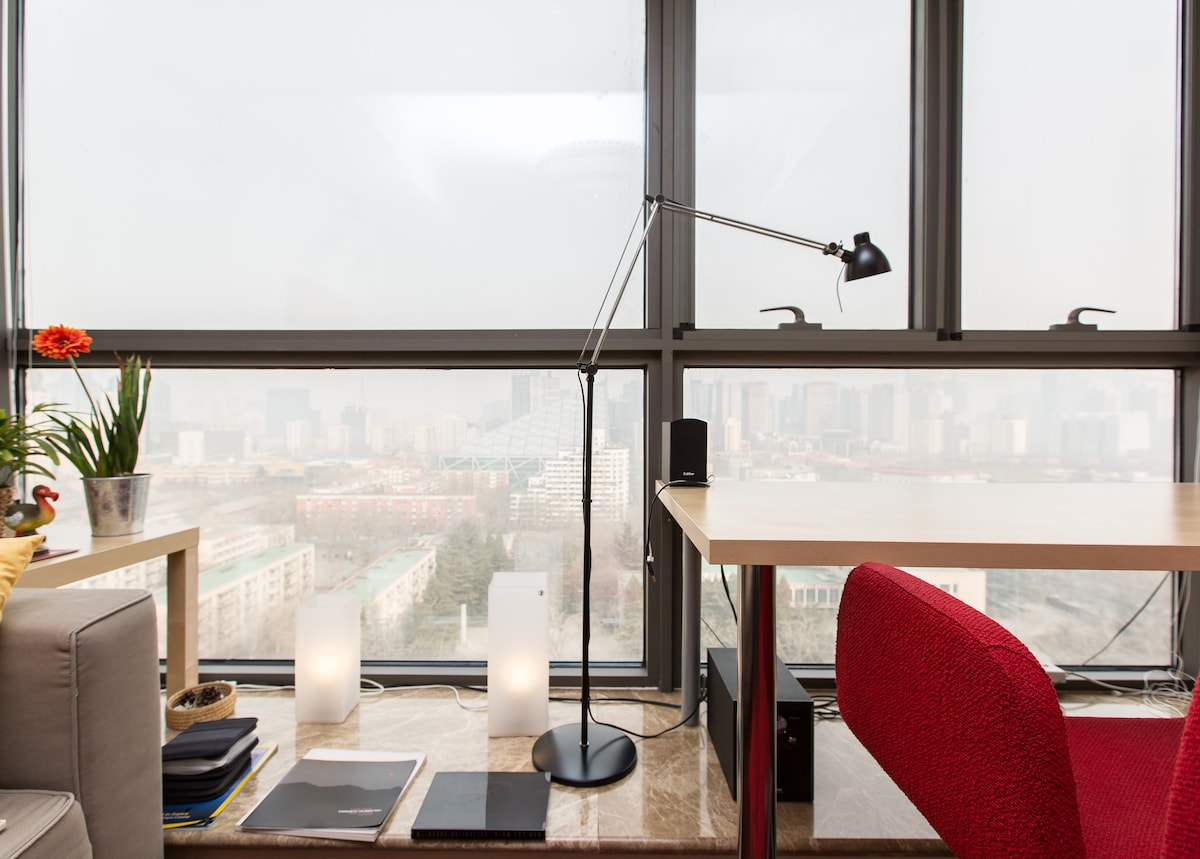 Breath-taking city views from the apartment windows. Browse my pics to see more!