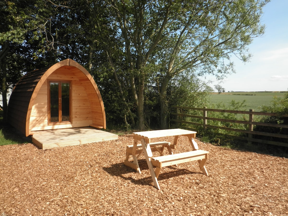 This is Stang Pod, which is situated in the corner of the 'Poddery' and looks out towards the Stang Forest.