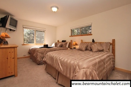 Master bedroom with two queen beds, TV with Cable, Bathroom