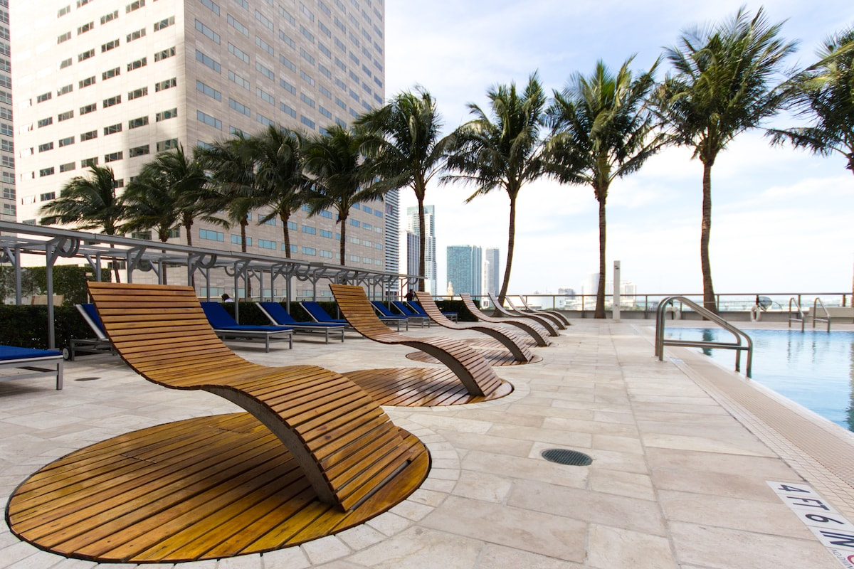 Next to Intercontinental Hotel, Share amenities With Hotel Included.
