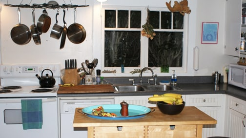 Cook up a storm in the well-equipped kitchen