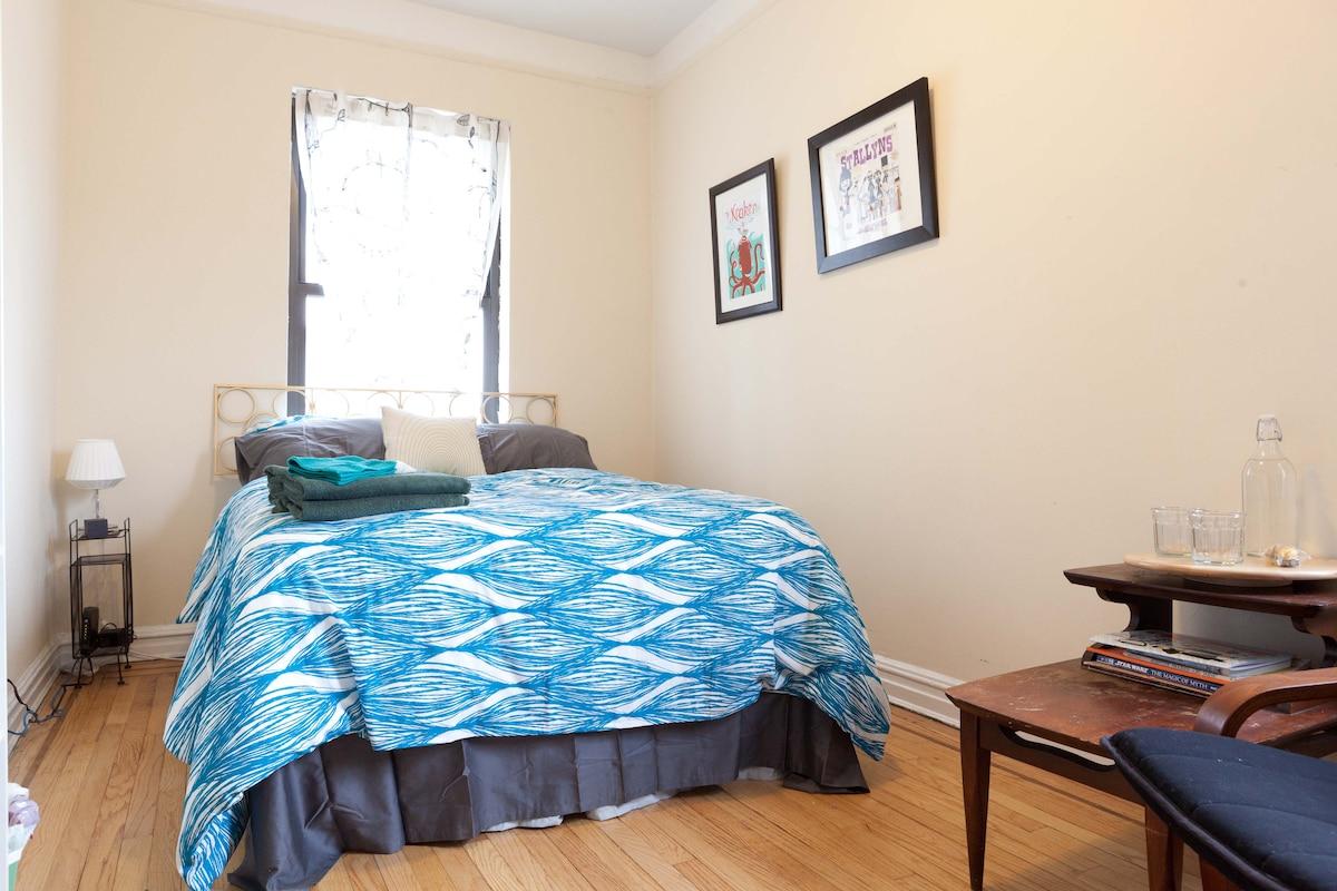 Bright Room in Upper Manhattan Apt