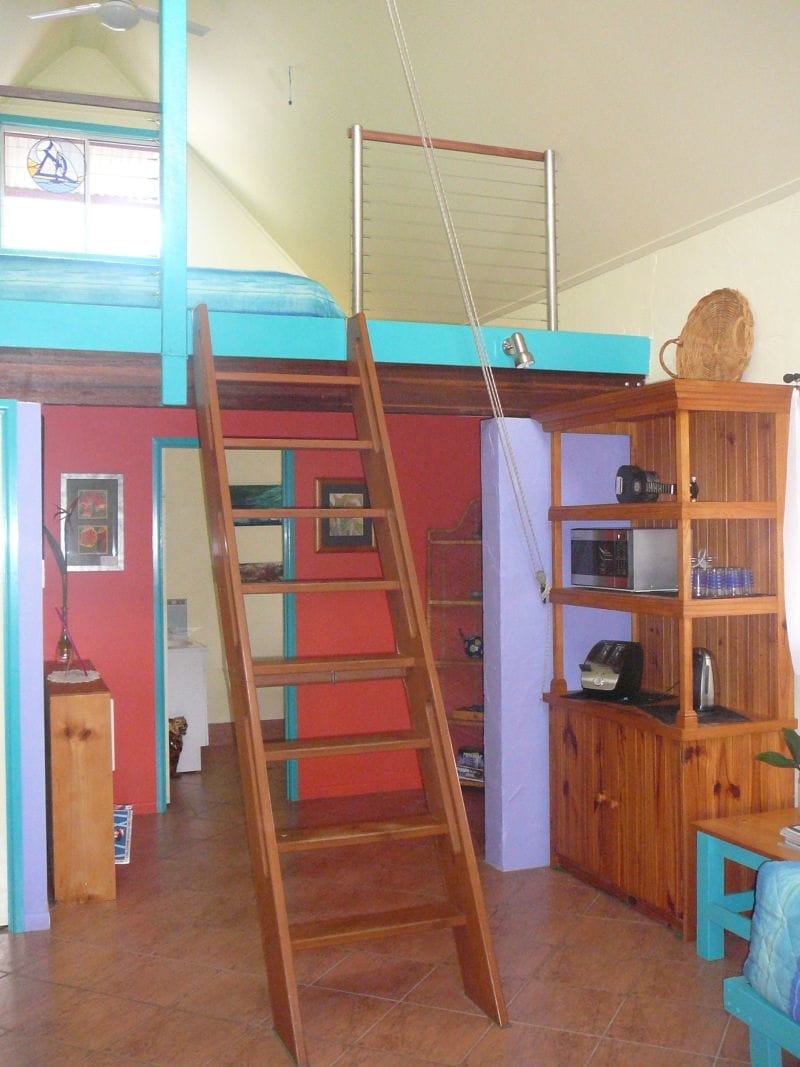 The Loft and your bedroom upstairs