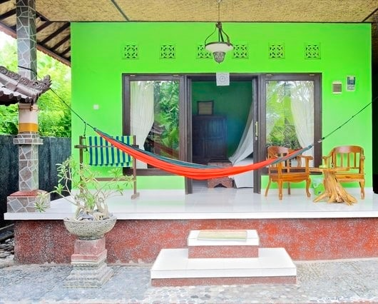 Green House with hammock.