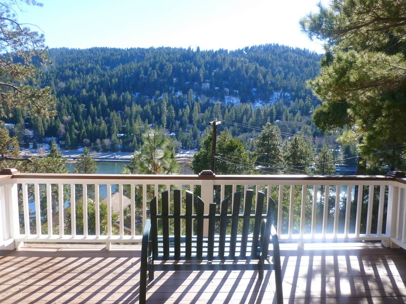 Large deck with breathtaking views of Lake Gregory!
