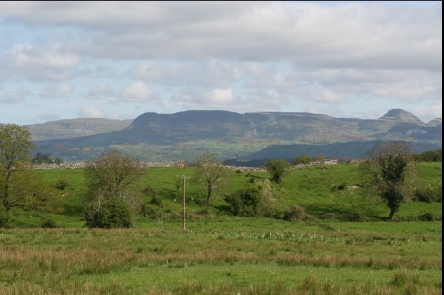view from sitting room window of sleeping giant mountain
