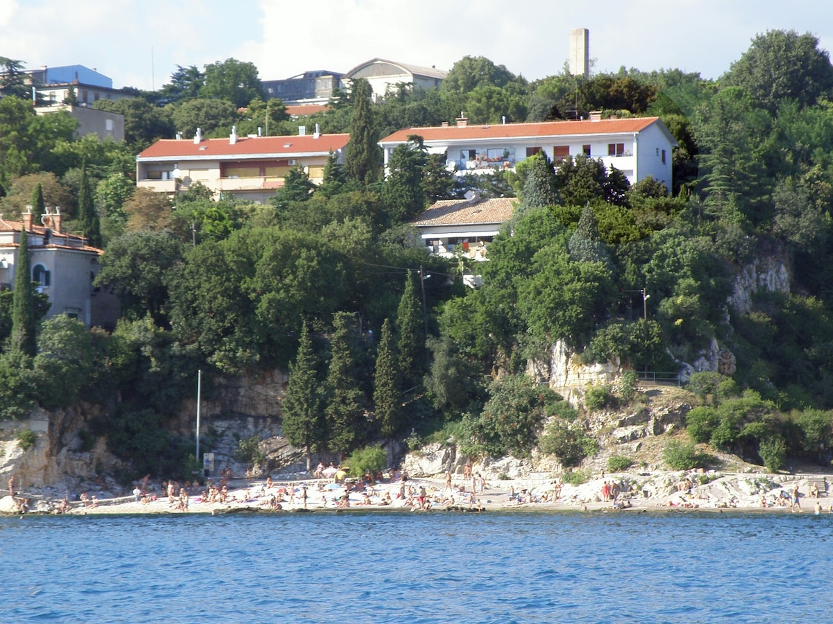 This is a view of the house from the sea.