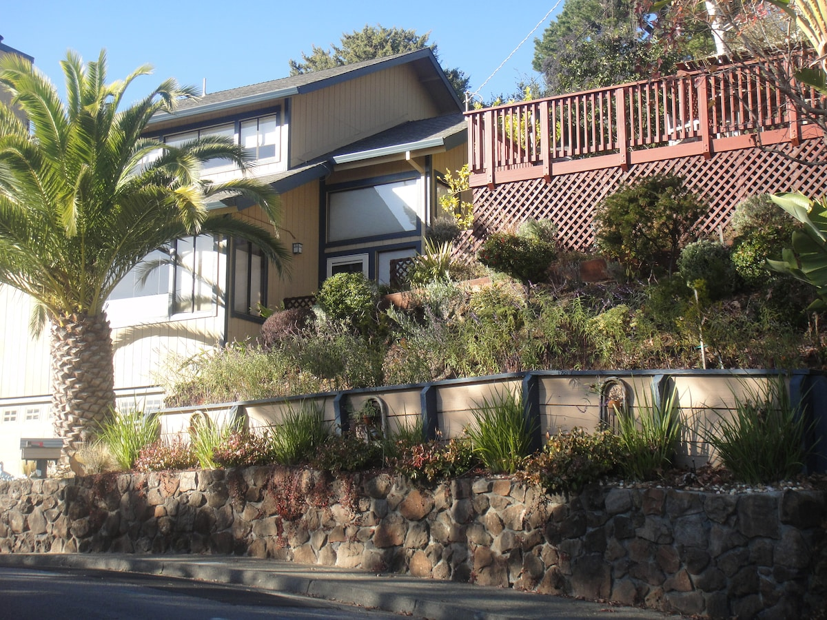 View of the2 Storey  House, Front garden and Front deck