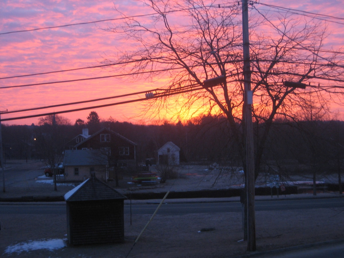 Sunrise from the front deck!