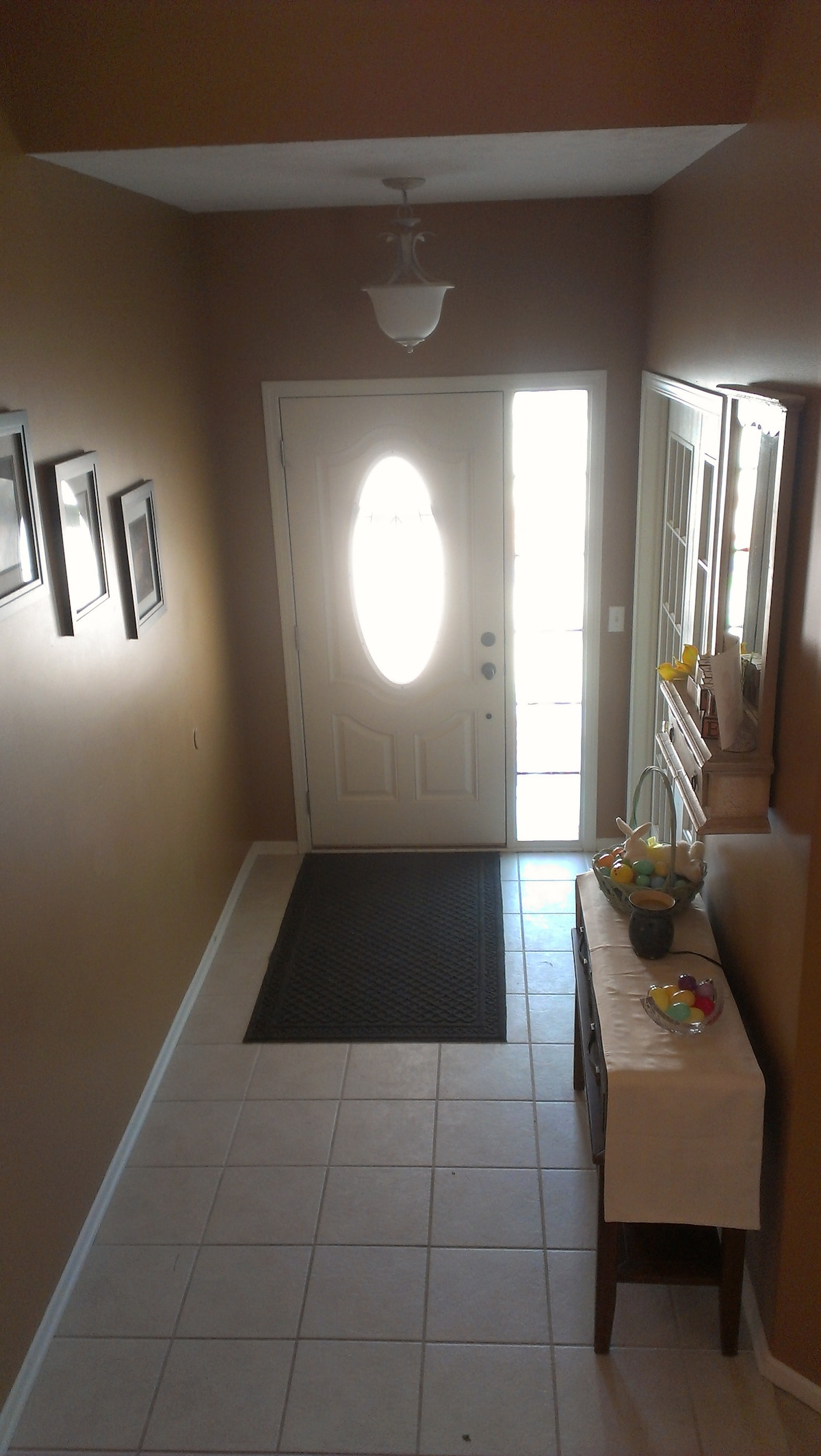 Well-lit entryway, ready for your arrival.