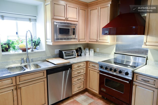 Amazingly well designed kitchen, with the highest quality appliances and finishes.