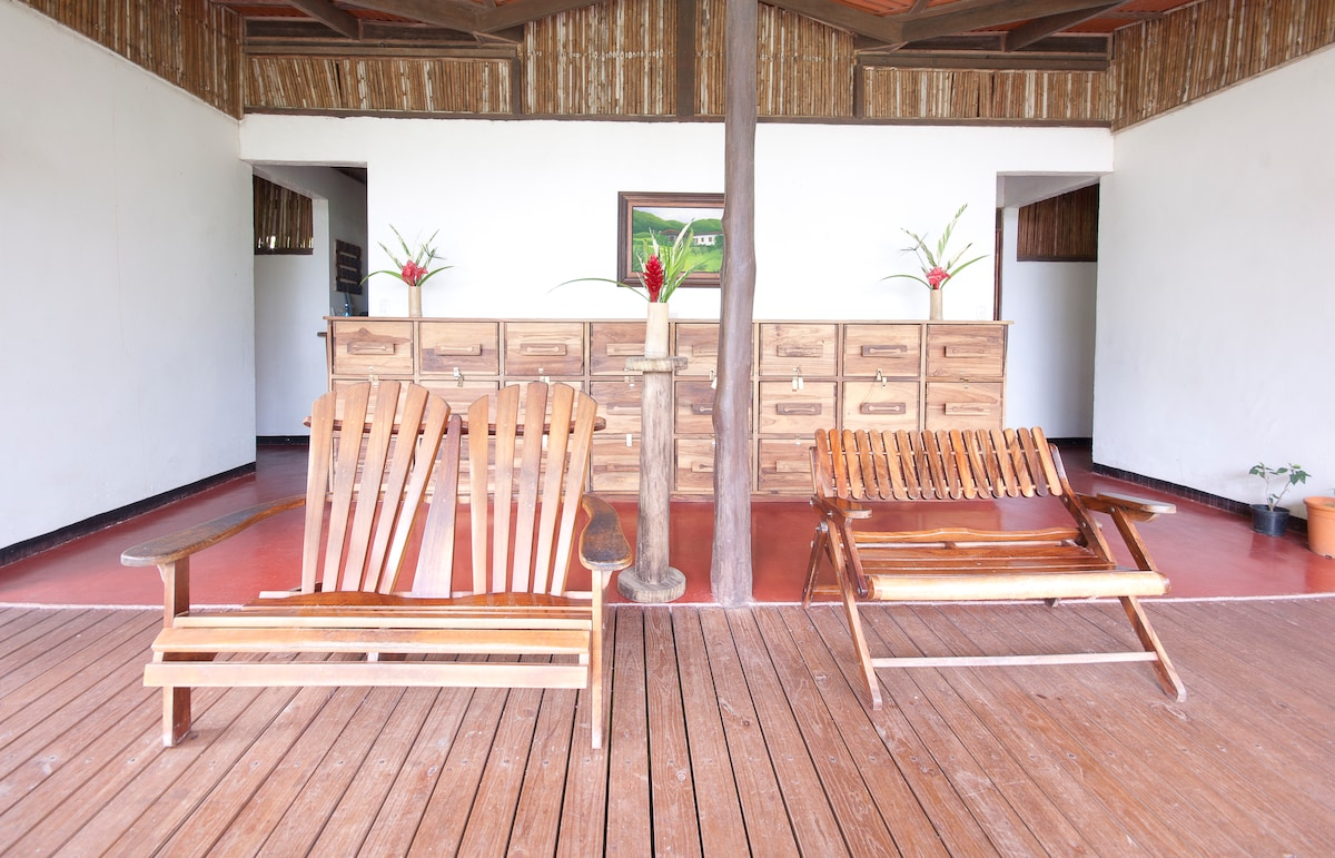 Shared Common Terrace of Bunkhouse at Rancho Margot - ALL INCLUSIVE