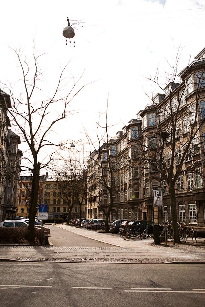 A cosy dead-end street in the middle of Copenhagen