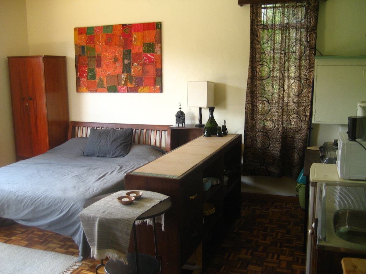 Tastefully furnished self-contained studio with everything you need to feel just at home in this cozy space.