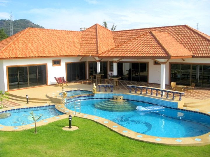 The beautiful villa with three private pools - Jaccuzzi, childrens pool and a deeper main pool