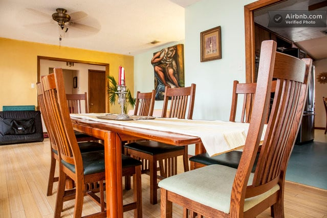 Formal Dining Area with a nice adjoining sitting area.
