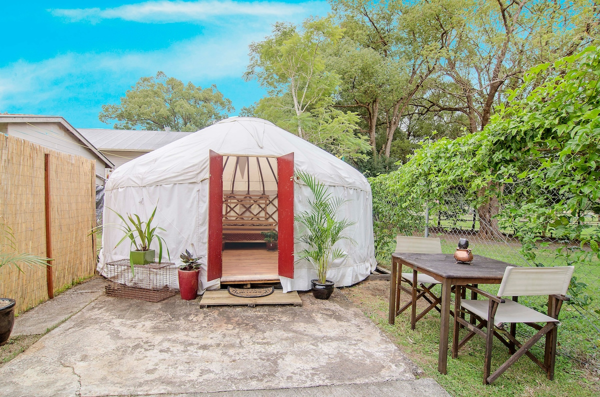 NEW PHOTO TO COME!  Outside view of the Yurt