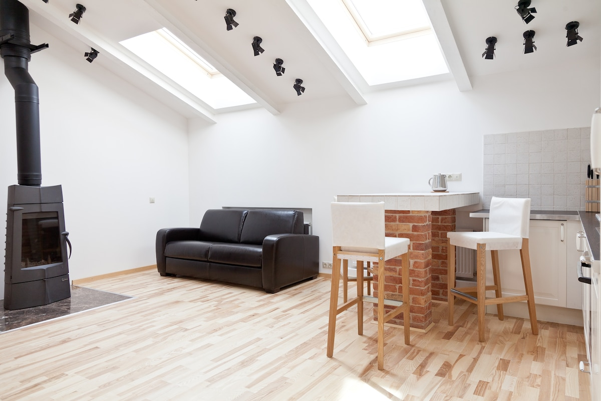 Loft with a Fireplace: Luxury Area