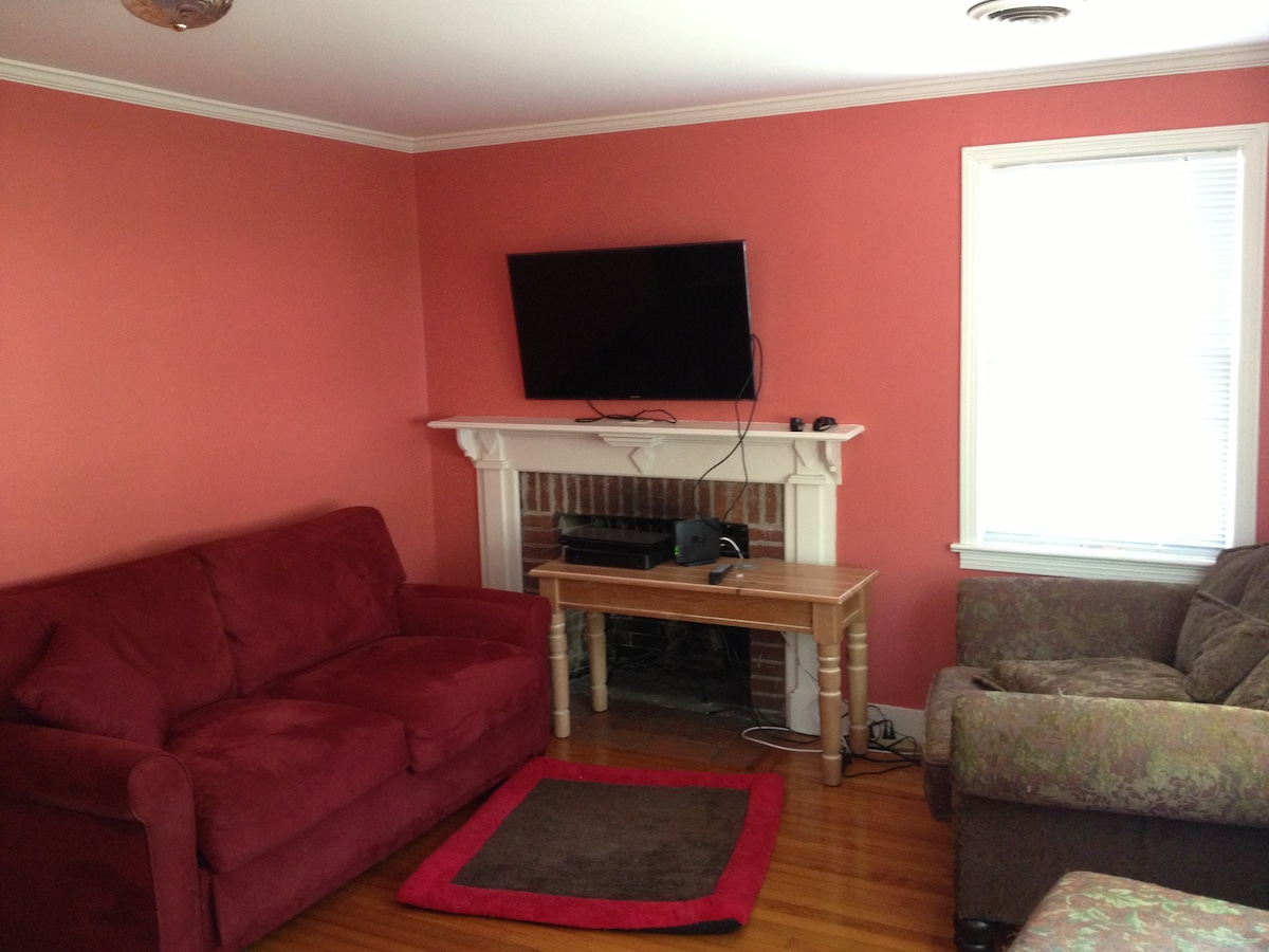 Front Den: can be a private room with a sleeper sofa