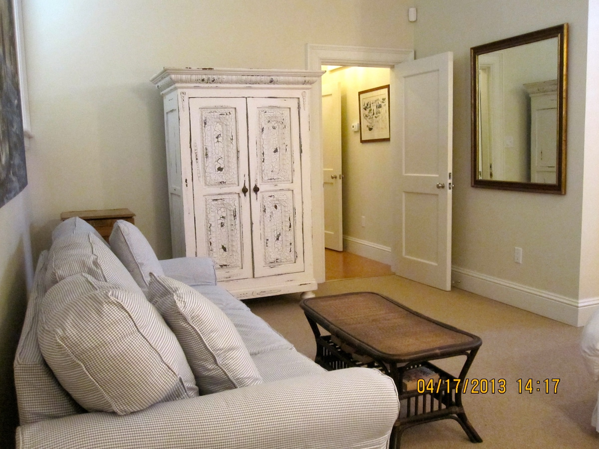 Large sofa, Armoire with TV inside