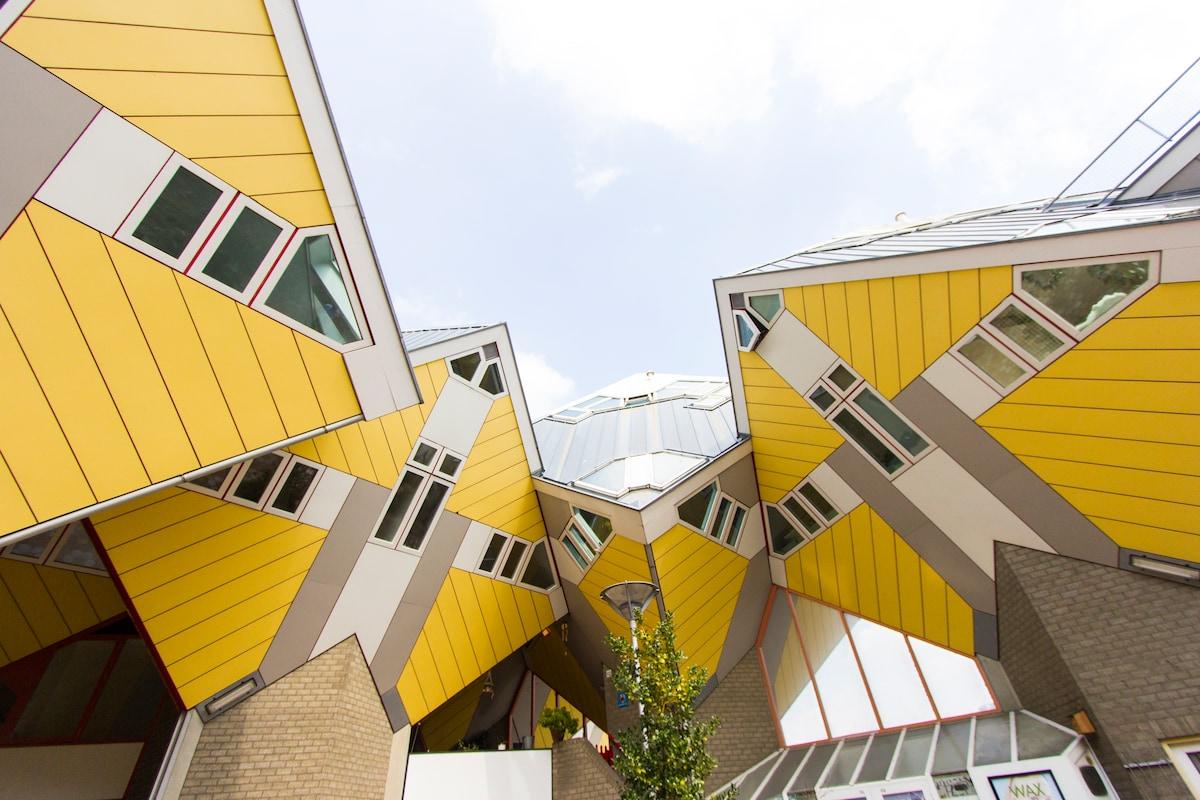Cubehouses outside