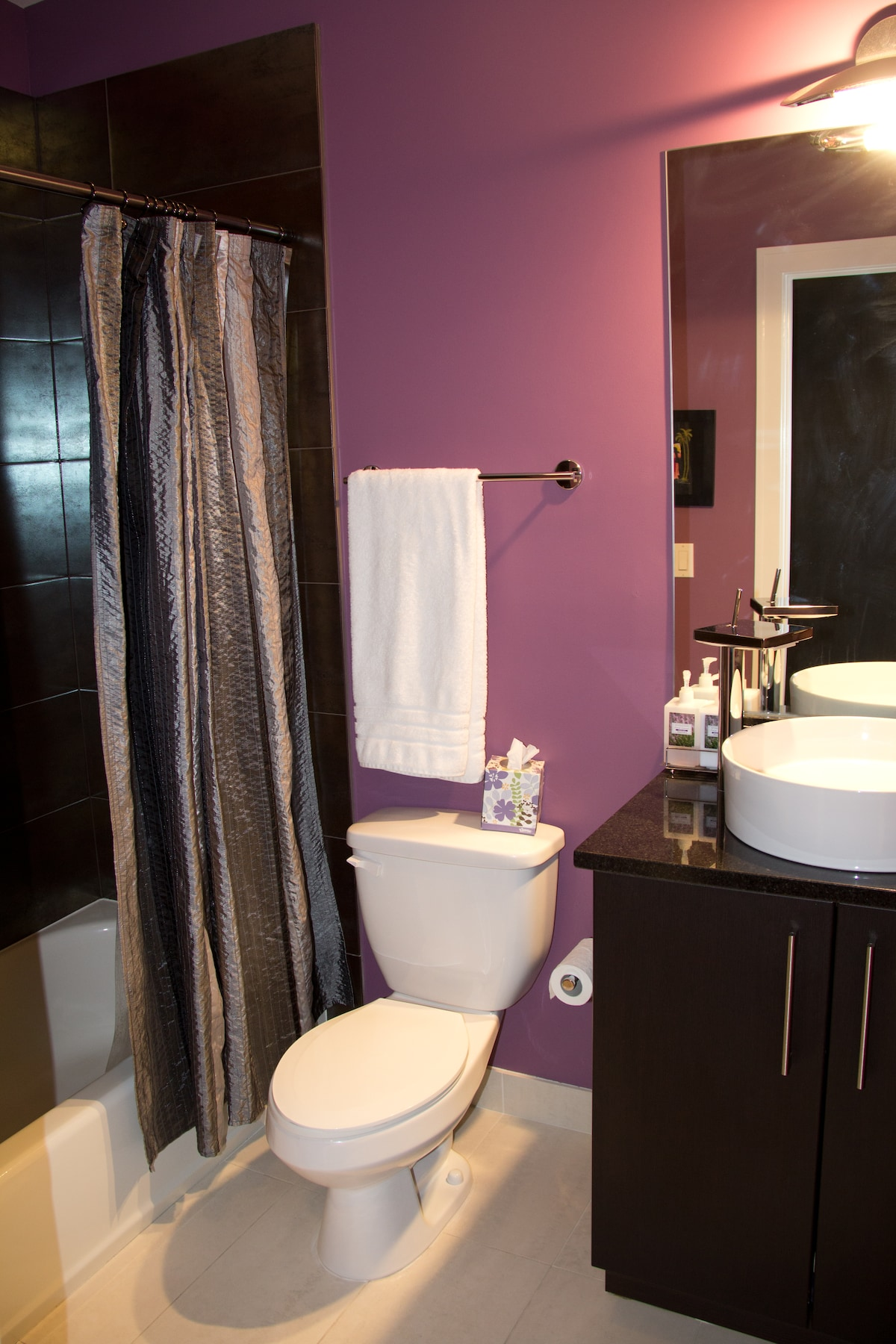 Private, guest bathroom
