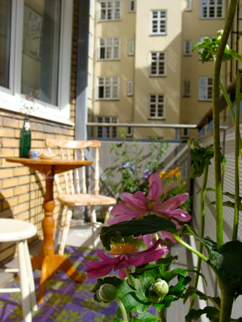 This is your private balcony - you can enjoy your coffee in the morning sun