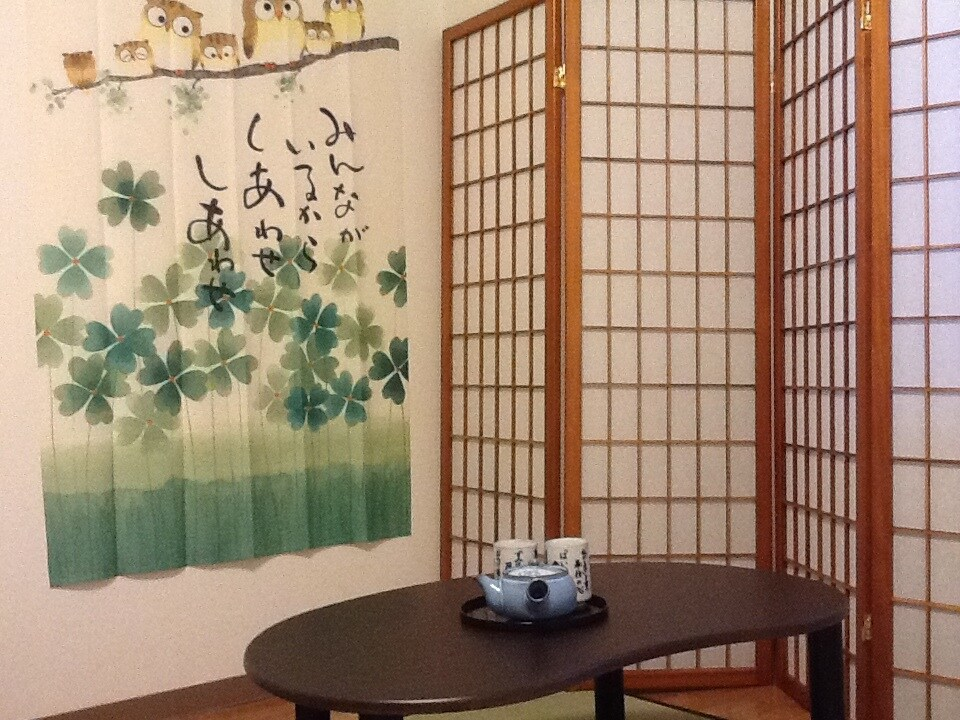 Relaxing corner for a cup of green tea...