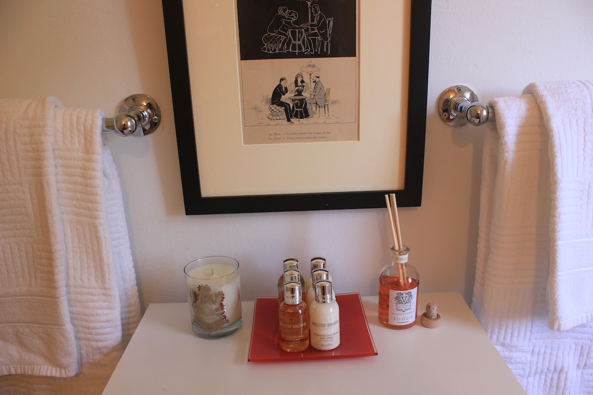 Complimentary luxury bath products.