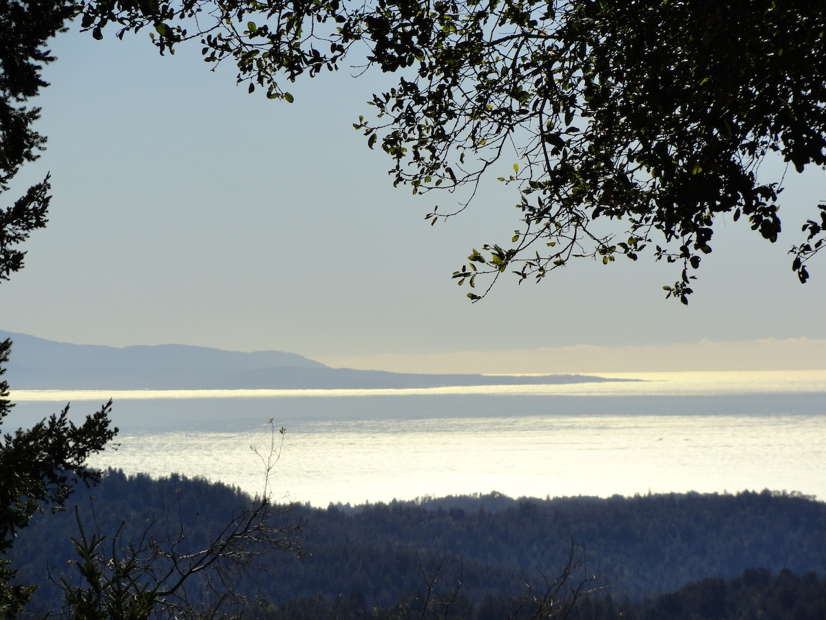 This is the amazing view of Monterey Peninsula from the deck. The light is always changing.