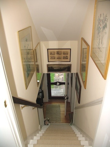 Hallway leading to separate upstairs queen and single room