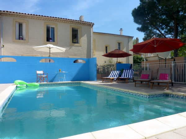 Pool area and rear of Villa Roquette