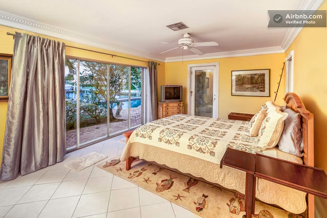 Master 2 bedroom on the water also with access to patio.