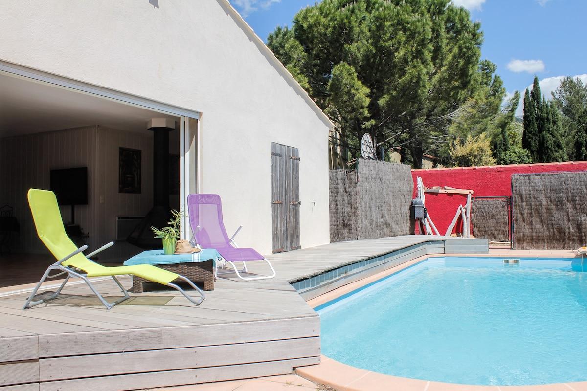 villa privée avec piscine 7 places