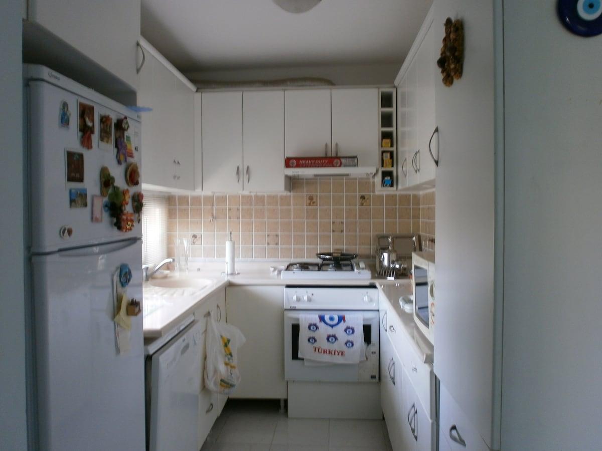 kitchen jut off main hall way