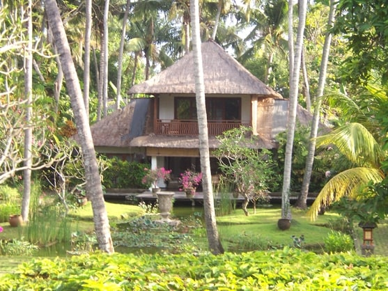 one of the estate houses, all houses are classic Bali design