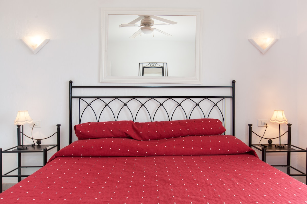 Cealing fans are also installed in the bedroom and sitting room