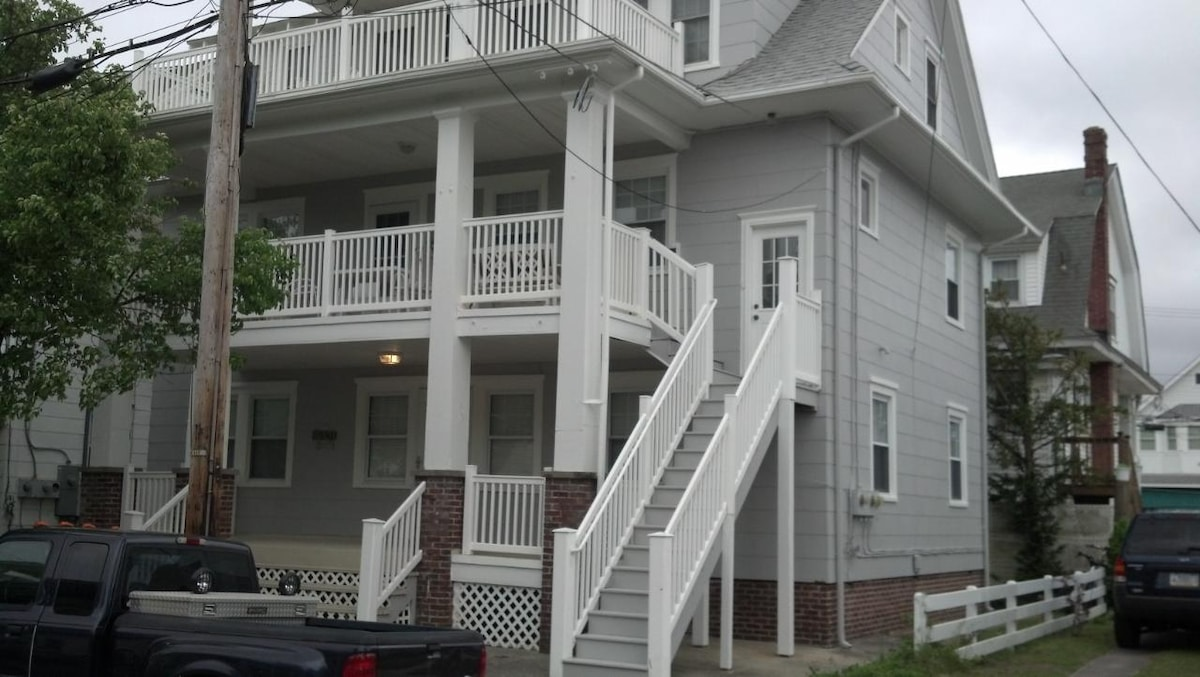 Our beach house was repainted a beautiful, classic grey just in time for summer 2013!